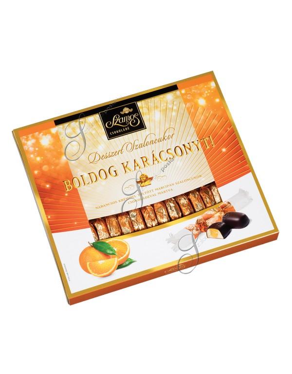 Szamos desszert narancsos szaloncukor díszdobozban